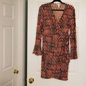 Dress with flutter sleeves